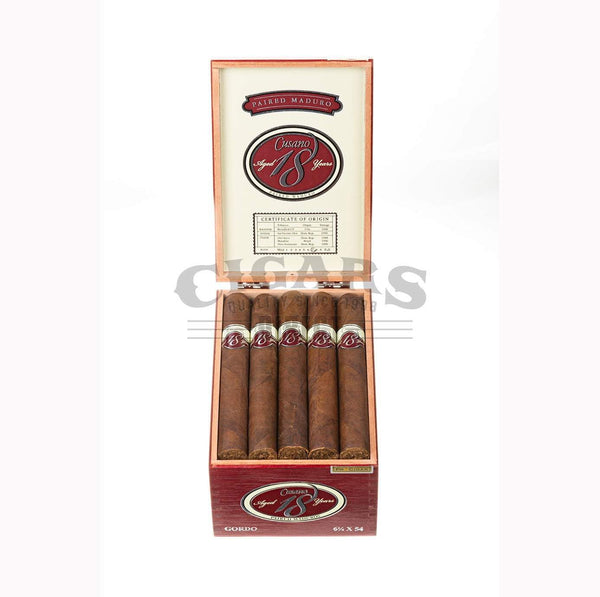 Load image into Gallery viewer, Cusano.18 Paired Maduro Toro Gordo Box Open