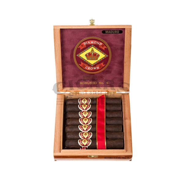 Load image into Gallery viewer, Diamond Crown Original Robusto No.4 Maduro Box Open