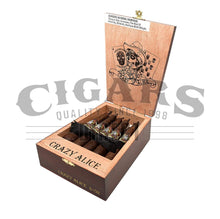 Load image into Gallery viewer, Drew Estate Deadwood Tobacco Co Crazy Alice Opened Box