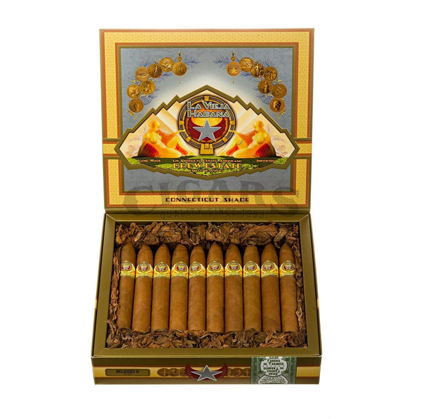 Load image into Gallery viewer, Drew Estate La Vieja Habana Connecticut Shade Belicoso D Box Open