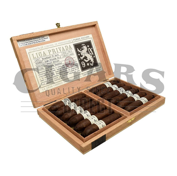 Load image into Gallery viewer, Drew Estate Liga Privada No.9 Flying Pig Box Open