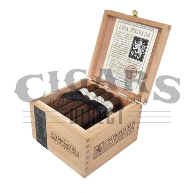Drew Estate Liga Privada No.9 Robusto Box Open