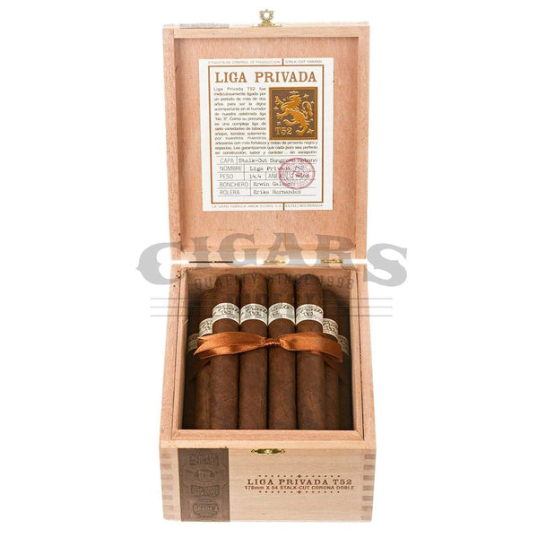 Load image into Gallery viewer, Drew Estate Liga Privada T52 Corona Doble Box Open