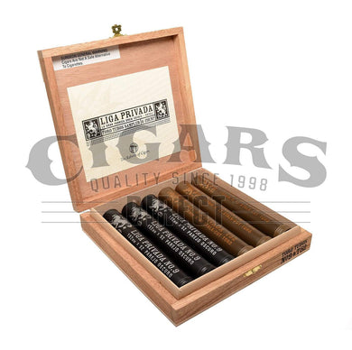 Drew Estate Liga Privada 6 Tubo Sampler Box Open