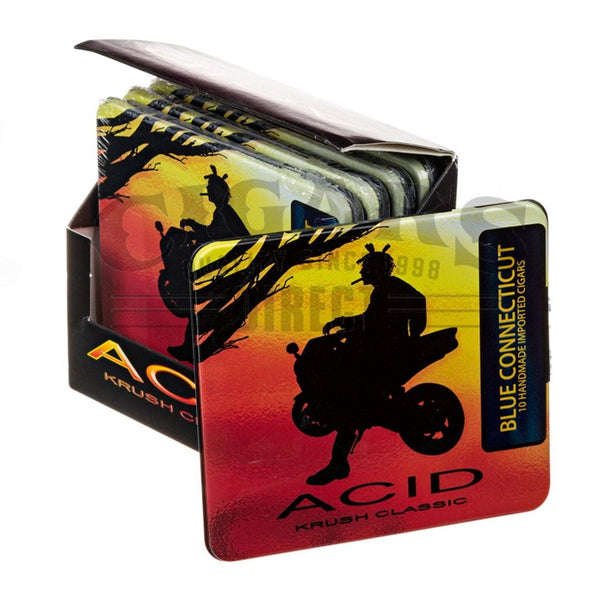 Load image into Gallery viewer, Drew Estate Acid Krush Classic Blue Connecticut Tins Closed