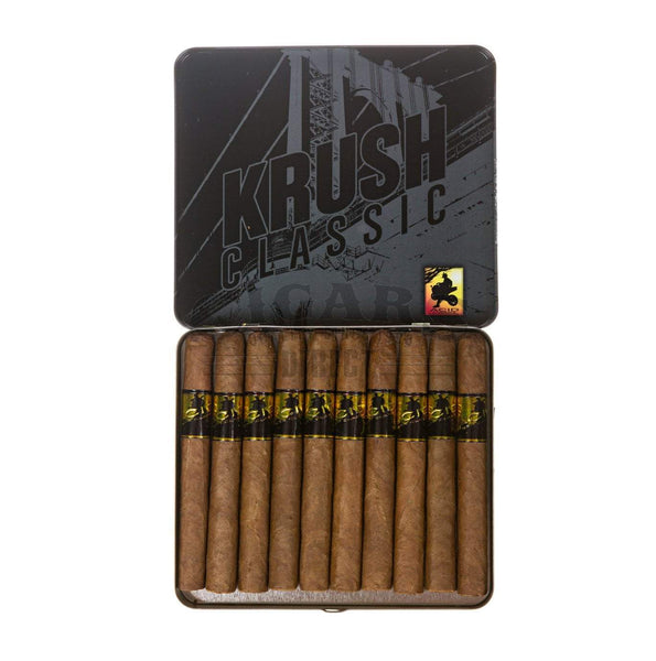 Load image into Gallery viewer, Drew Estate Small Cigar Tins Acid Krush Classic Gold Sumatra Tin Open