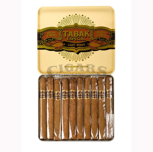 Load image into Gallery viewer, Drew Estate Small Cigar Tins Tabak Especial Cafecita Dulce Tin Open