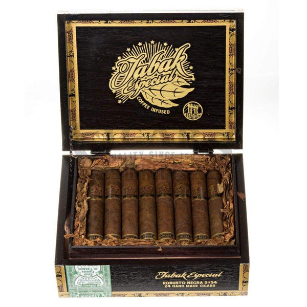 Load image into Gallery viewer, Drew Estate Tabak Especial Negra Robusto Box Open