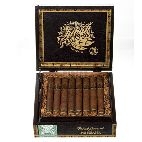 Load image into Gallery viewer, Drew Estate Tabak Especial Negra Toro Box Open