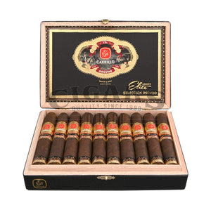 E.P. Carrillo Seleccion Oscuro Piramides Royal Opened Box