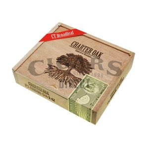Foundation Cigar Co Charter Oak Maduro Petit Corona Box Closed