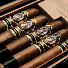 Load image into Gallery viewer, God of Fire 10th Anniversary 5 Cigar Sampler Box Open