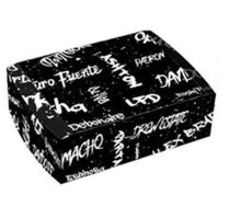 Load image into Gallery viewer, Graffiti Black and White Travel Humidor Set Side