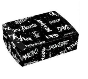 Graffiti Black and White Travel Humidor Set Side