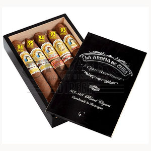 La Aroma de Cuba 5 Cigar Assortment Sampler Box Open