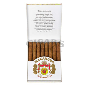 Macanudo Cafe Miniatures Box Open