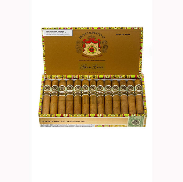 Load image into Gallery viewer, Macanudo Gold Label Duke Of York Box Open