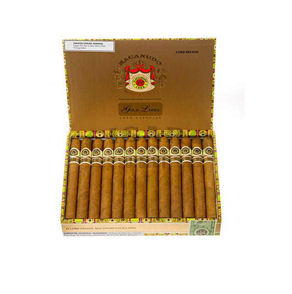 Load image into Gallery viewer, Macanudo Gold Label Lord Nelson Box Open