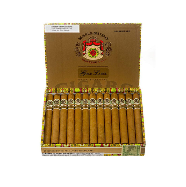 Load image into Gallery viewer, Macanudo Gold Label Shakespeare Box Open