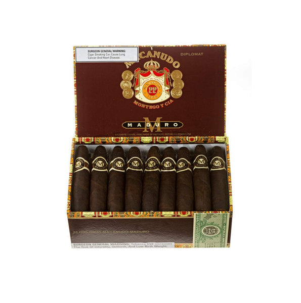 Load image into Gallery viewer, Macanudo Maduro Diplomat Box Open