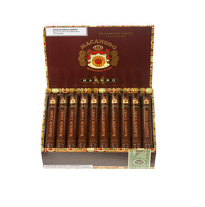 Macanudo Maduro Hampton Court Box Open