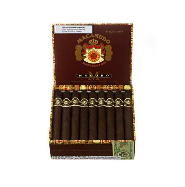 Load image into Gallery viewer, Macanudo Maduro Hyde Park Box Open