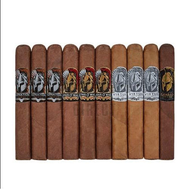 Man O' War Box-Pressed 10 Cigar Sampler
