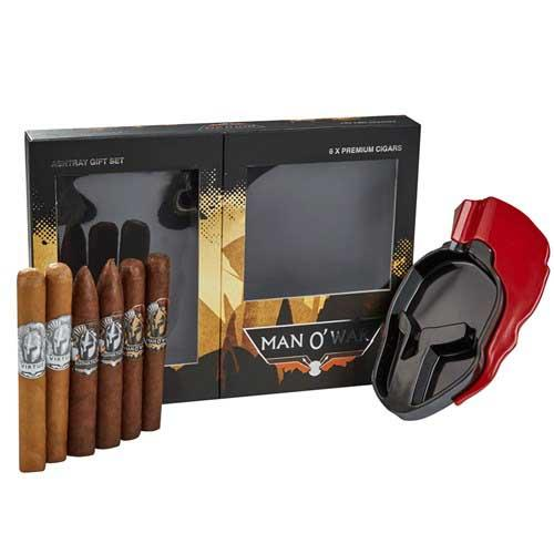Load image into Gallery viewer, Man O'War Gift Box and Ashtray Sampler