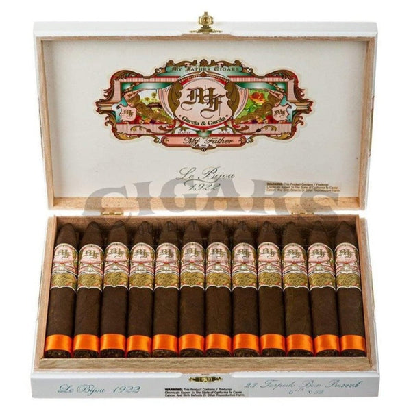 Load image into Gallery viewer, My Father Cigars Le Bijou 1922 Torpedo Box Pressed Box Open