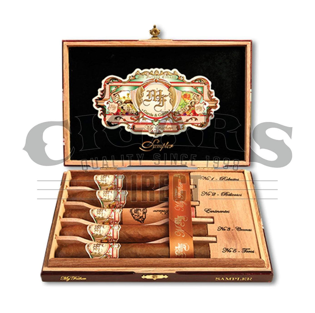 My Father 5 Cigar Sampler Open Box