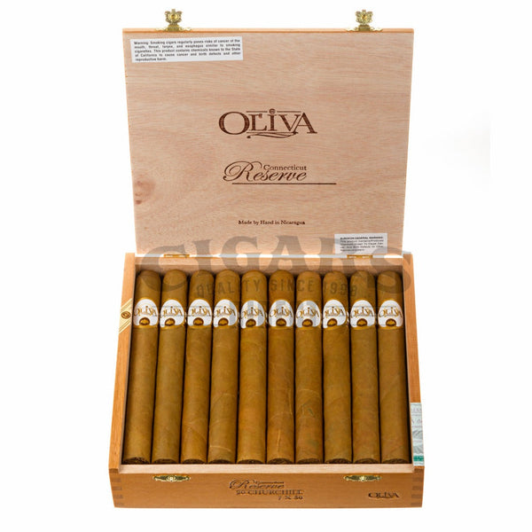 Load image into Gallery viewer, Oliva Connecticut Reserve Churchill Box Open