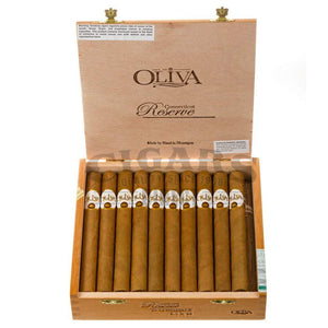 Oliva Connecticut Reserve Lonsdale Box Open
