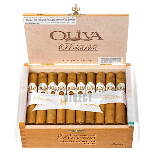 Load image into Gallery viewer, Oliva Connecticut Reserve Petit Corona Box Open