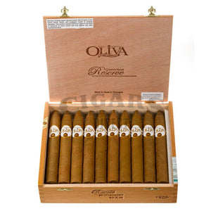 Oliva Connecticut Reserve Torpedo Box Open