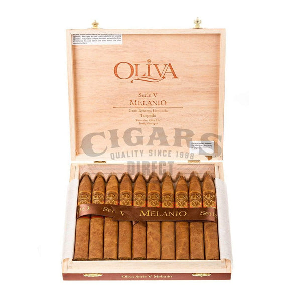 Load image into Gallery viewer, Oliva Serie V Melanio Torpedo Box Open