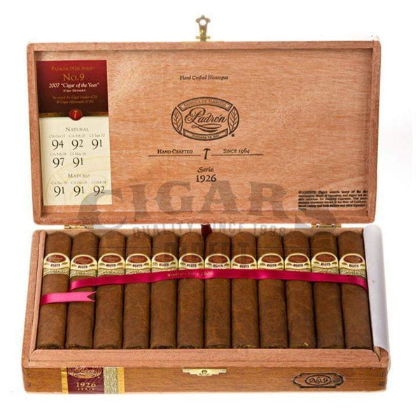 Load image into Gallery viewer, Padron 1926 Anniversary No.9 Natural Box Open