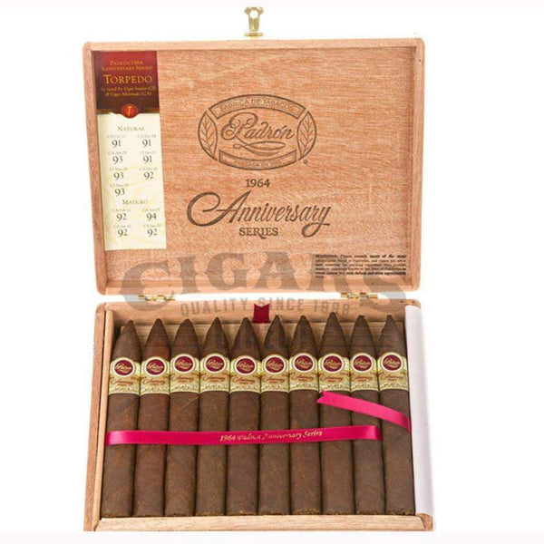 Load image into Gallery viewer, Padron 1964 Anniversary Torpedo Maduro Box Open