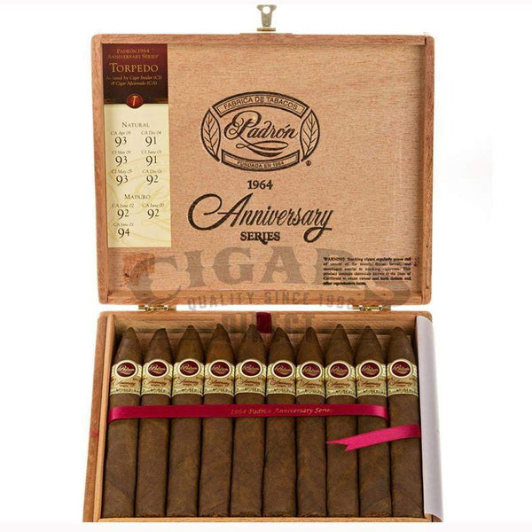 Load image into Gallery viewer, Padron 1964 Anniversary Torpedo Natural Box Open