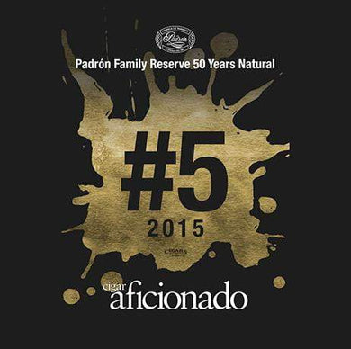 Padron Family Reserve No.50 Natural 2015 No.5 Cigar of The Year