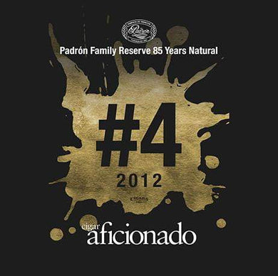 Padron Family Reserve No.85 Natural 2012 No.4 Cigar of The Year