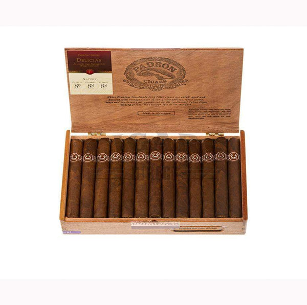 Load image into Gallery viewer, Padron Thousand Series Delicias Natural Box Open