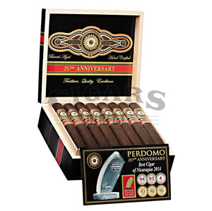 Perdomo 20th Anniversary Maduro Torpedo Open Box