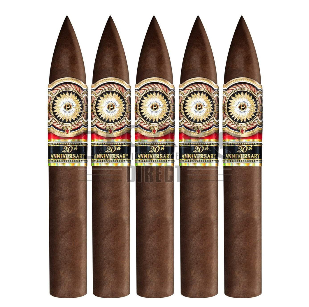 Perdomo 20th Anniversary Sungrown Torpedo 5 Pack