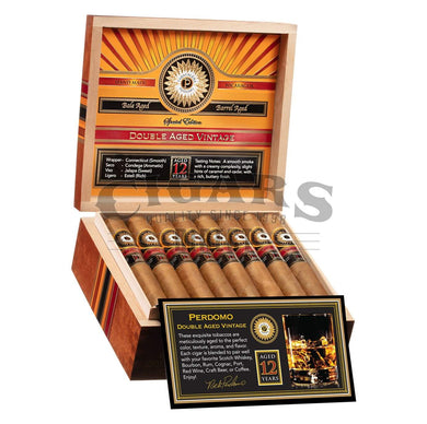 Perdomo Double Aged 12 Year Vintage Connecticut Churchill Open Box