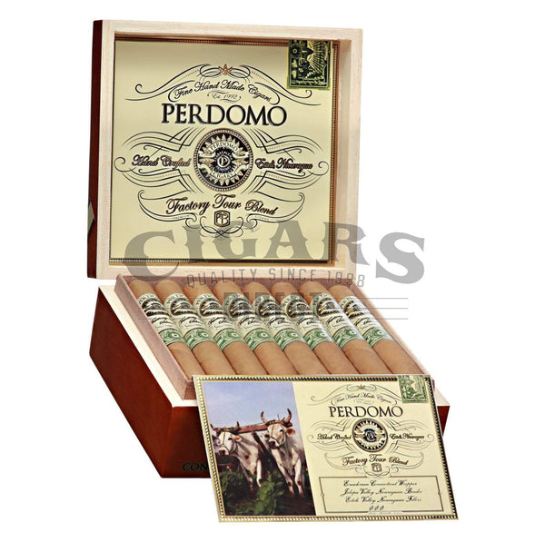 Load image into Gallery viewer, Perdomo Factory Tour Blend Connecticut Churchill Open Box