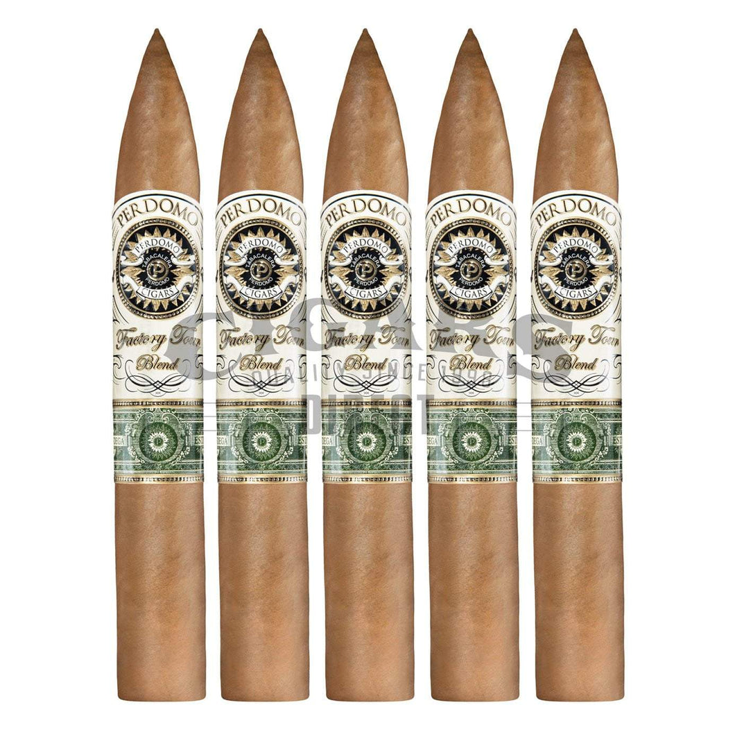 Perdomo Factory Tour Blend Connecticut Torpedo 5 Pack