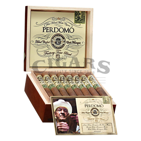 Load image into Gallery viewer, Perdomo Factory Tour Blend Sungrown Torpedo Open Box