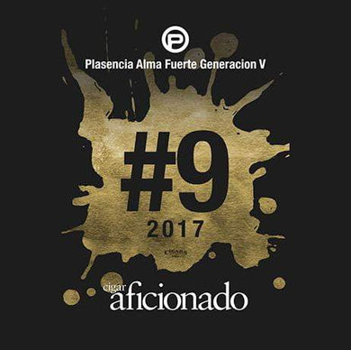 Plasencia Alma Fuerte Generacion V 2017 No.9 Cigar of The Year