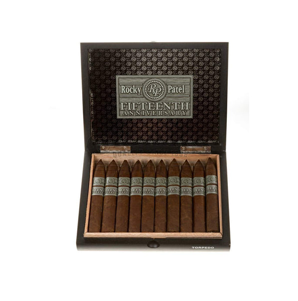 Load image into Gallery viewer, Rocky Patel 15th Anniversary Torpedo Opened Box