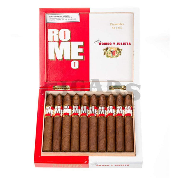 Load image into Gallery viewer, Romeo Y Julieta Romeo Piramide Box Open
